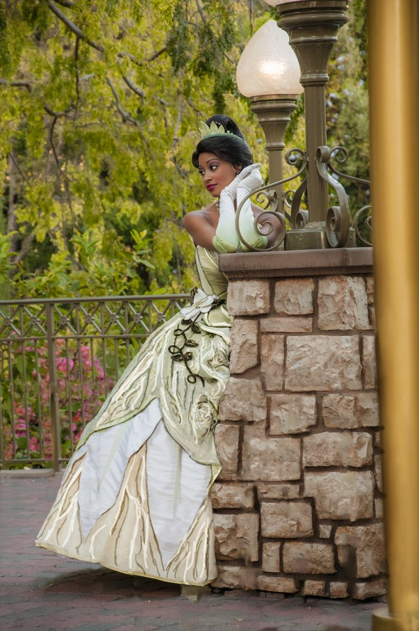 Disney Princess Tiana at the Disneyland Resort - Texture and Contrast