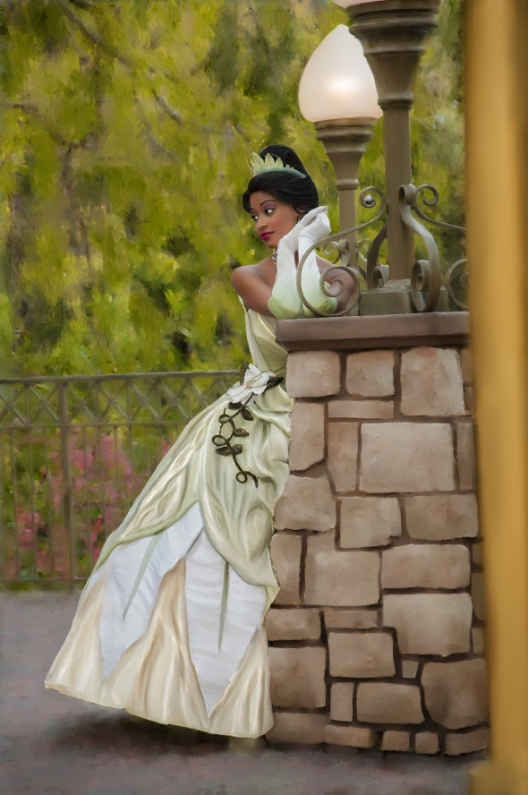 Disney Princess Tiana at the Disneyland Resort - Tiana Painted