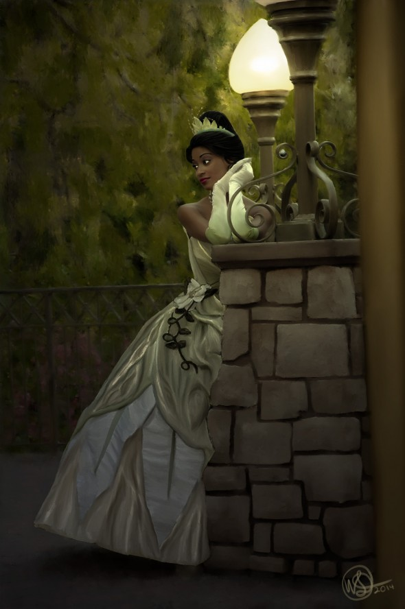 Disney Princess Tiana at the Disneyland Resort - Painting Complete