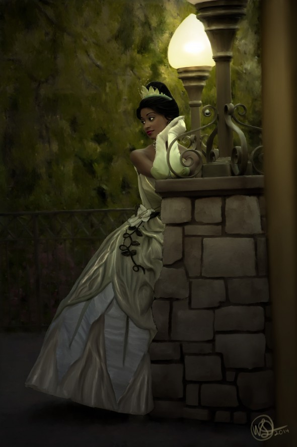 Disney Princess Tiana at the Disneyland Resort - Painting Complete Full size